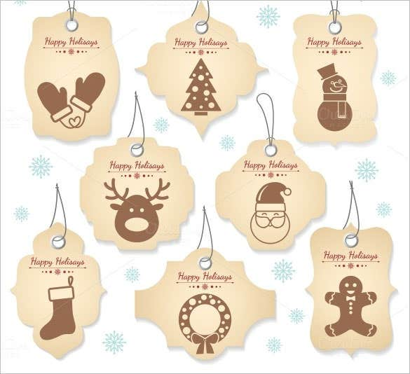 8 Christmas Tag Labels EPS Format Download  Free Label Templates Download