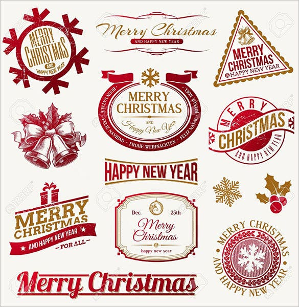 10 decorative christmas label templates download