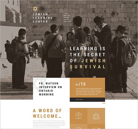 jewish school website template