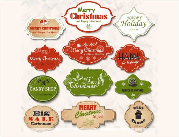 12 isolated christmas frames labels set download