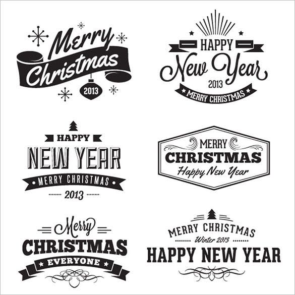 16 christmas badges and label ai format download