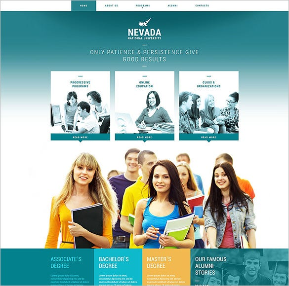 responsive website template for university