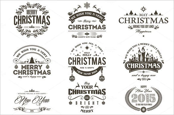 Christmas Label Templates  Free Psd Eps Ai Vector Format