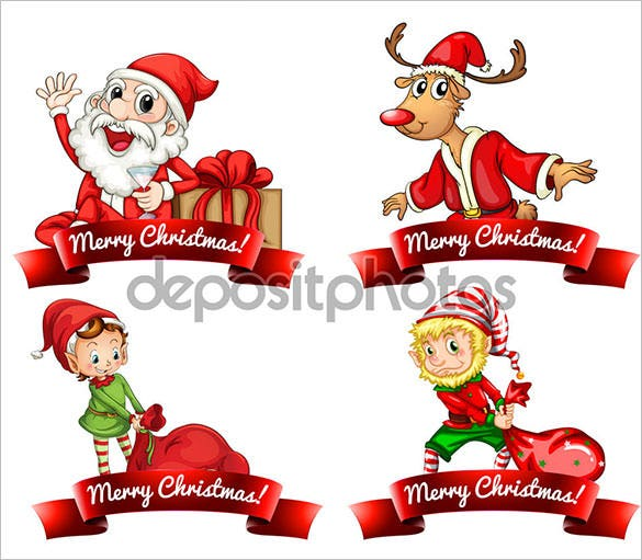 4 santa christmas label template download