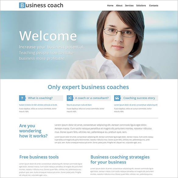 business school education website template