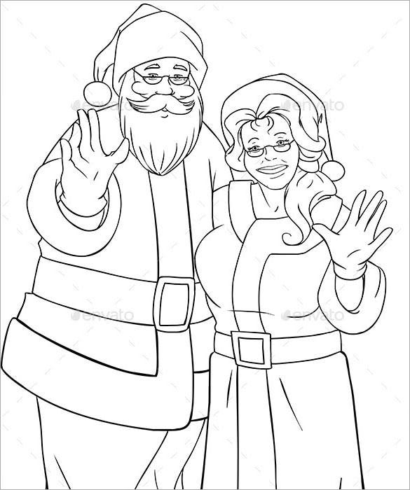 34+ Christmas Colouring Pages - Free JPEG, PNG, EPS Format ...