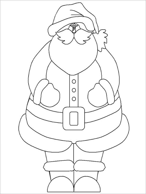 santa dressed for work printable download