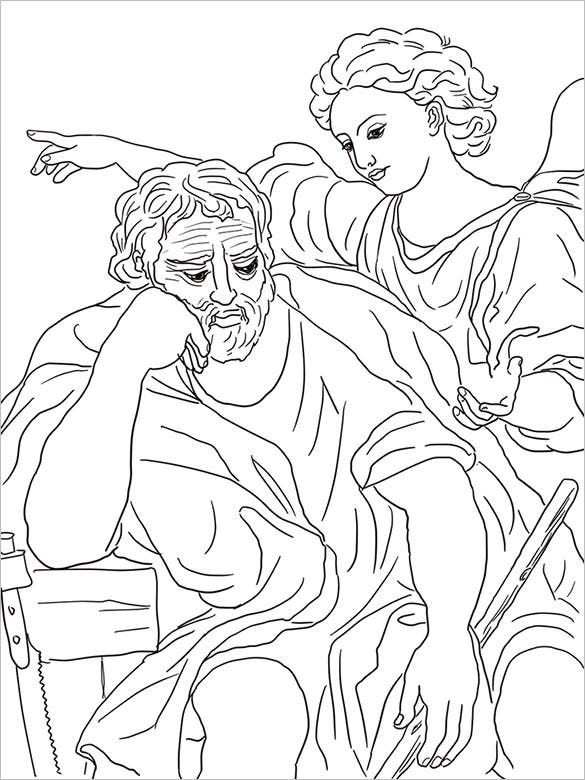 coloring christmas template of jesus