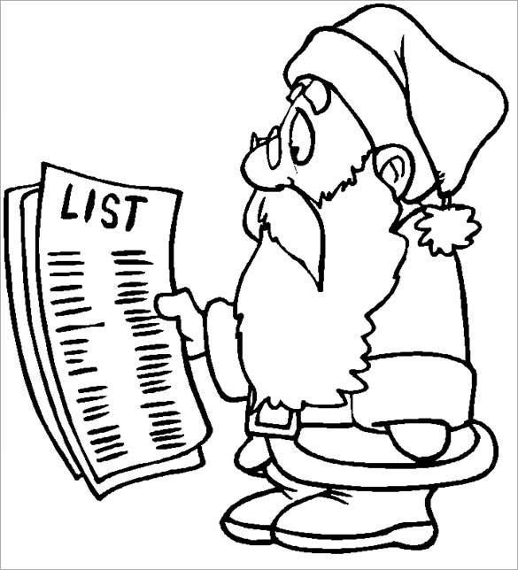 santa checking a very long list free download