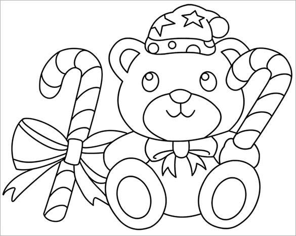 free download cute christmas bear template