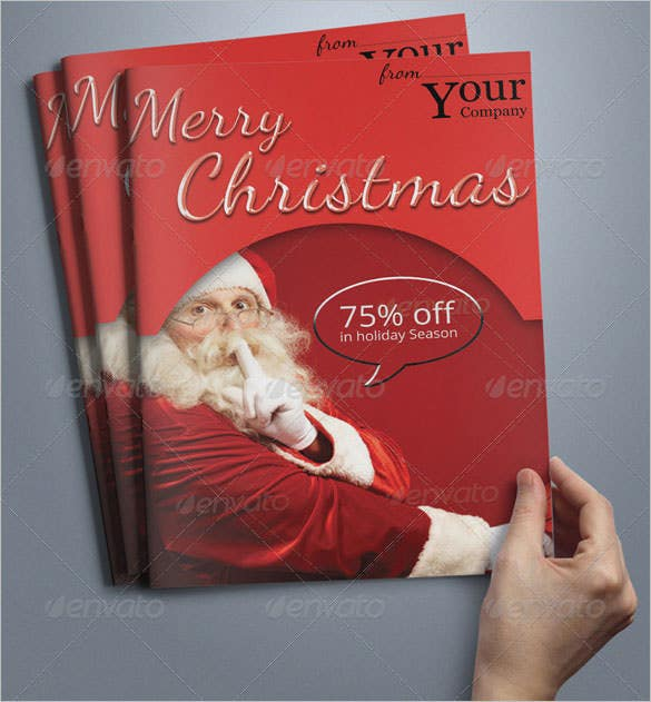 a5 christmas brochure template photoshop psd