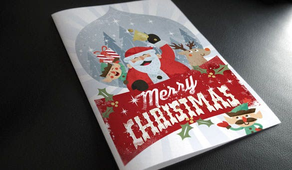 christmas invitaion card brochure template download