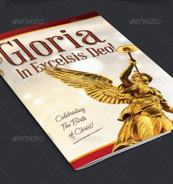 gloria christmas brochure template psd format