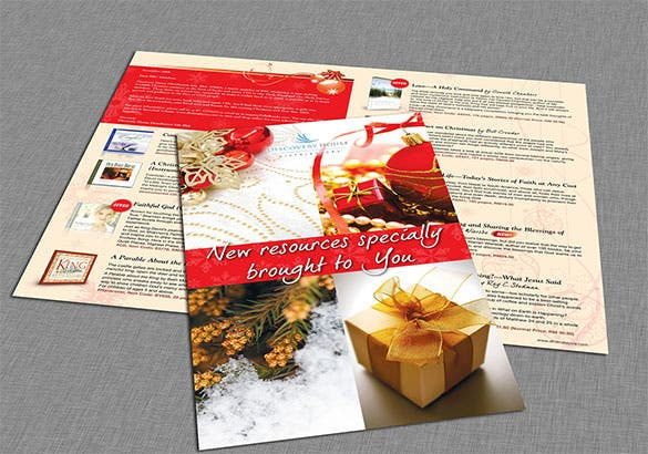 two fold christmas brochures for organization