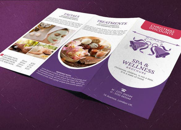 spa brochure template christmas deals indesign format