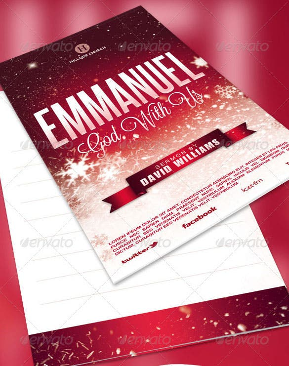 emmanuel church bulletin broucher template psd download