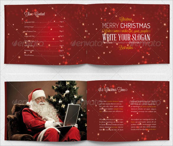 christmas brochure template photoshop psd download