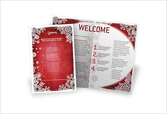 christmas theme brochure template download