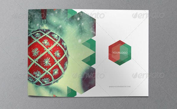 christmas brochure template indesign indd format