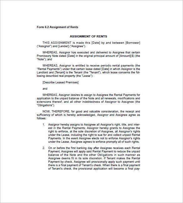 assignment of loan agreement