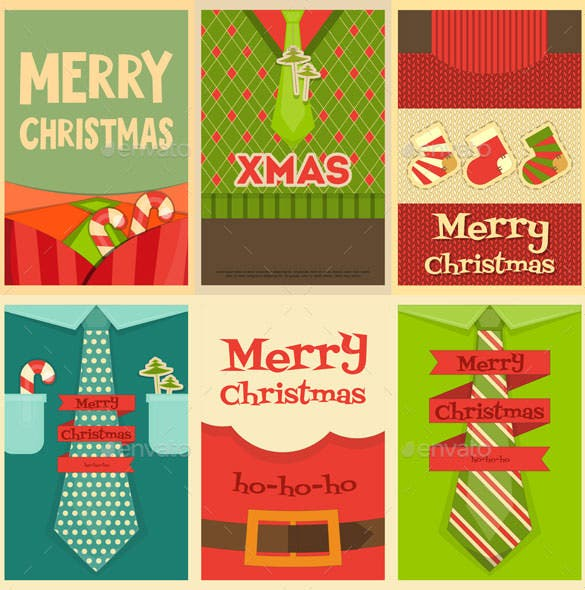 christmas posters template download vector eps