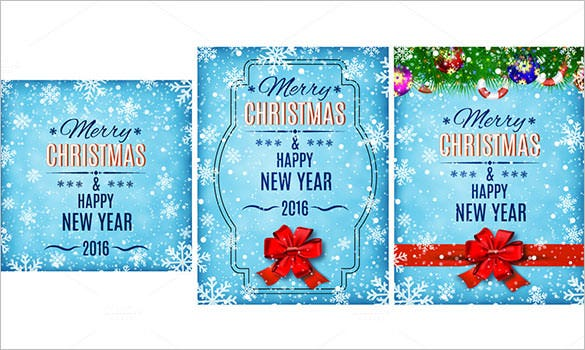 3 merry christmas and happy new year eps design