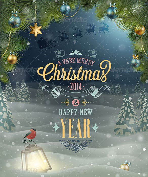 christmas poster template vector eps format