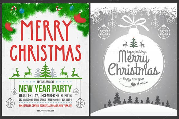 premium christmas poster template ai format download