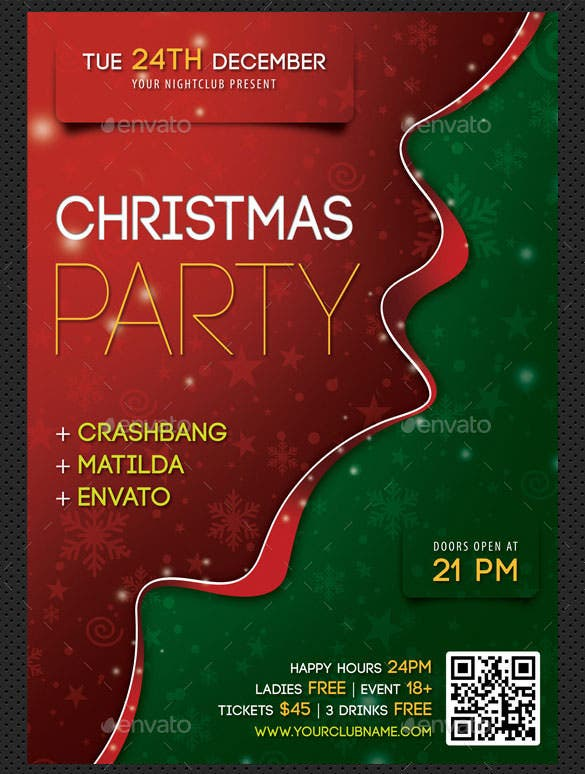 merry christmas poster template psd design