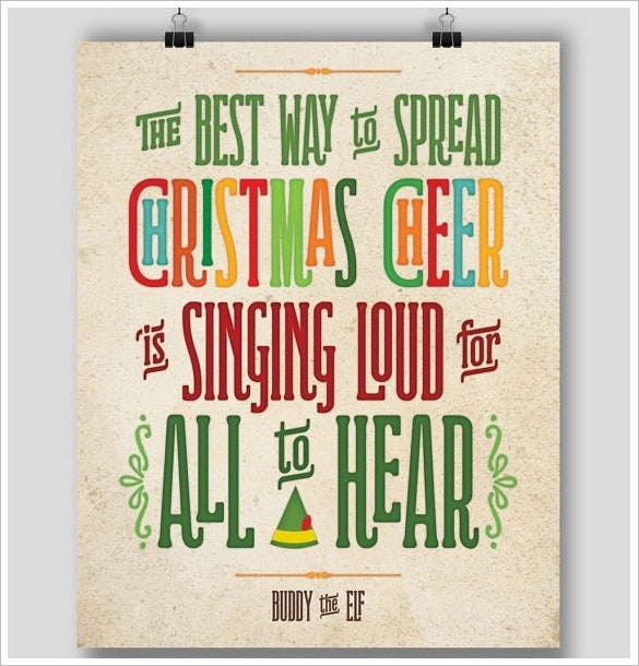 printable christmas funny holiday poster template