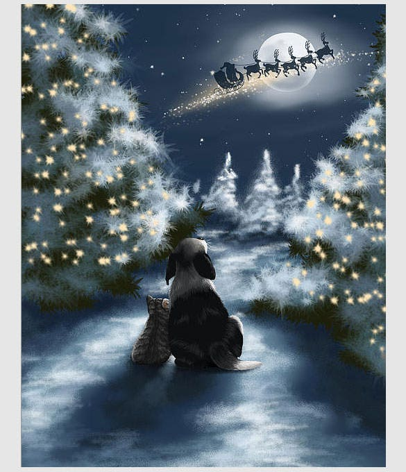 awesome christmas poster template download