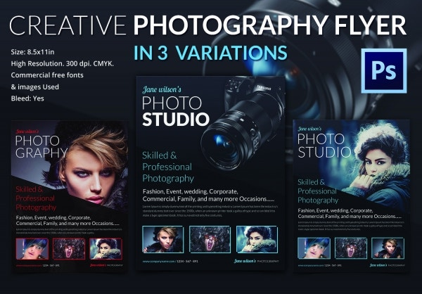 PSD Creative Photography Flyer Template