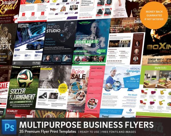 35 Different Business Flyer Templates Bundle