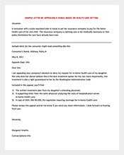 appeal letter template for health insurance pdf foramt