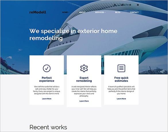 house remodelling wordpress theme