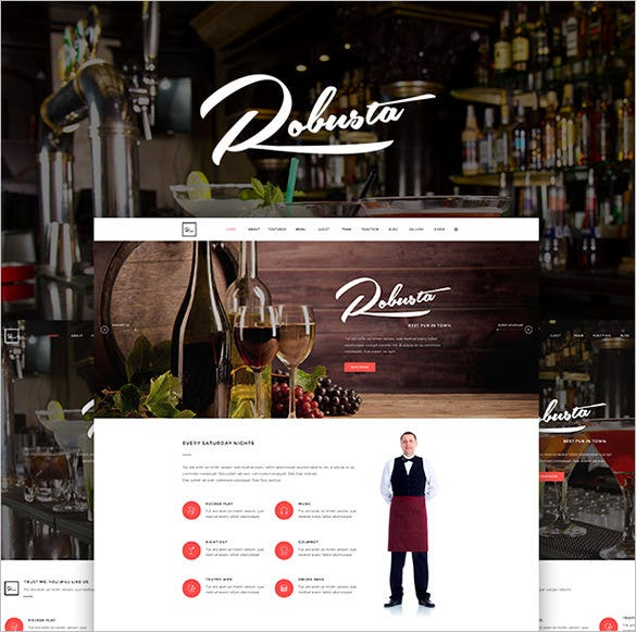 restaurant bar pub wordpress theme