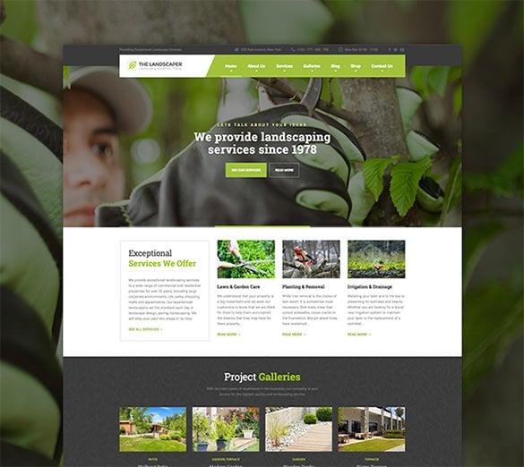 lawn landscaping wordpress theme