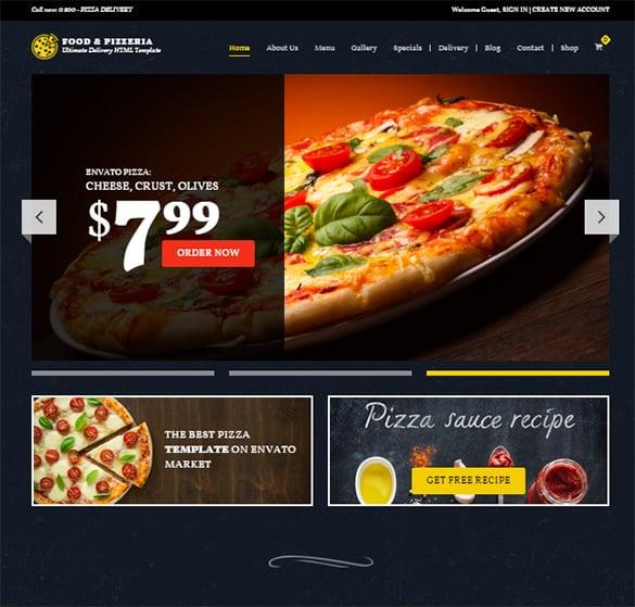 pizzeria ultimate delivery wordpress theme