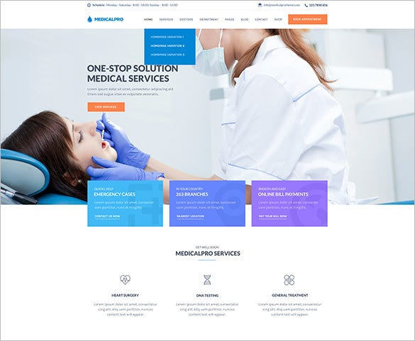 health and medical wordpress theme1