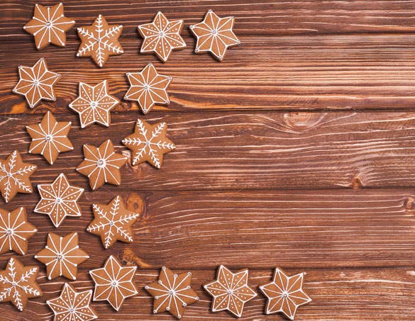 gingerbreads wooden christmas backgrounds download