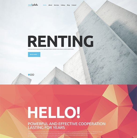 real estate agency blog theme