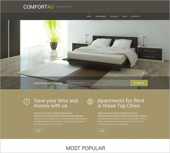 apartments for rent blog theme