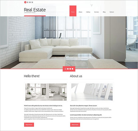 real estate agency responsive blog theme download