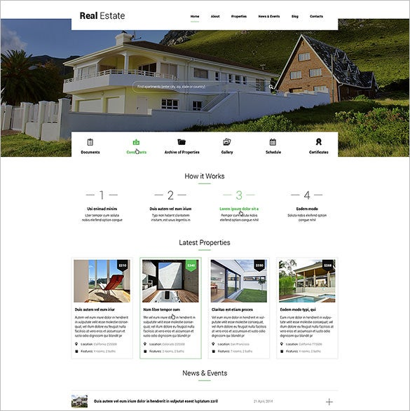 renting apartments blog theme download