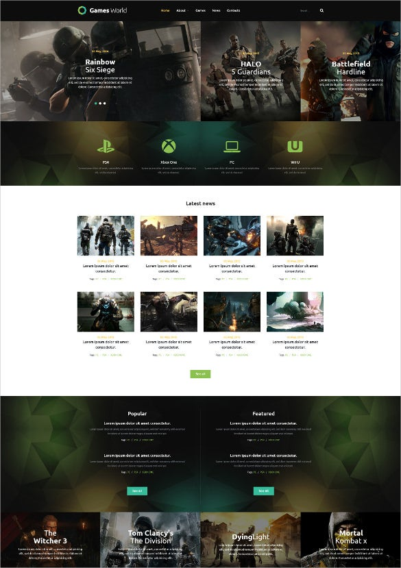 online joomla gaming template1