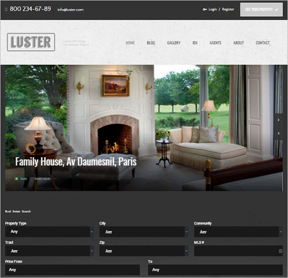 the biggest real estate blog theme