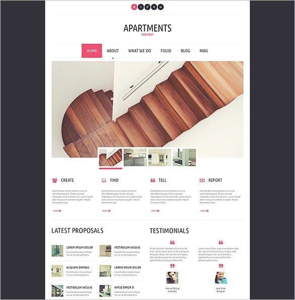 apartments for rent real estate blog theme