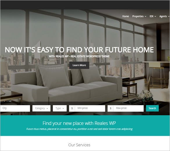 real estate html5 theme