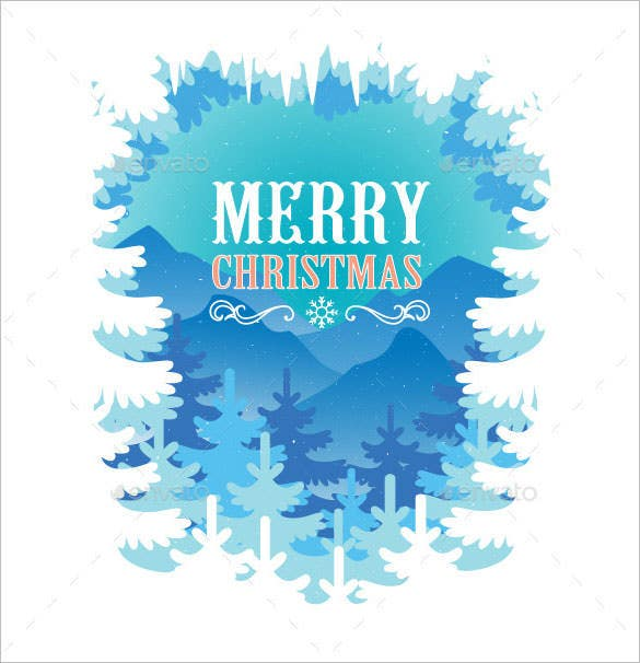 blue christmas illustration ai illustrator format