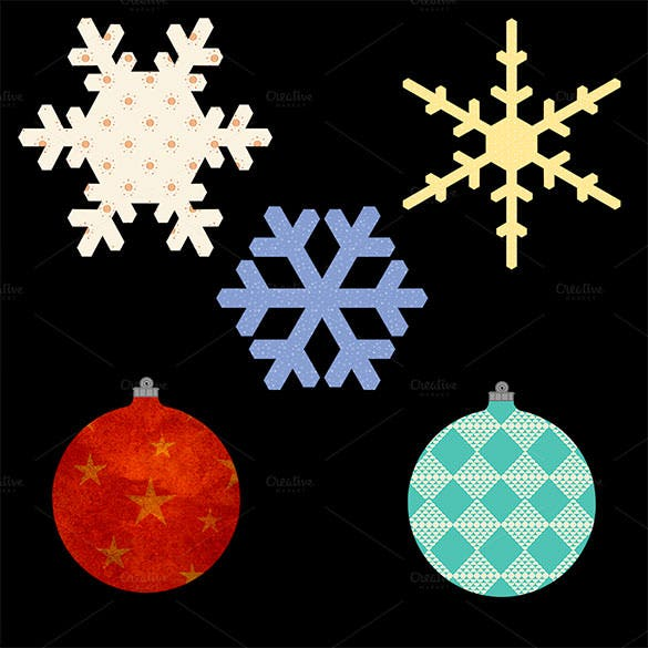 5 christmas illustrations png format